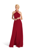 Red Joanna August Long Bridesmaid Dress Bella