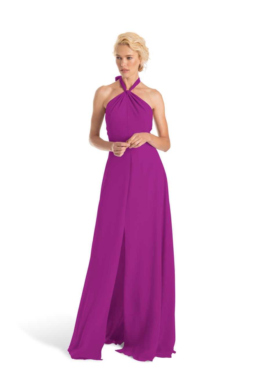Fuchsia Pink Joanna August Long Bridesmaid Dress Bella