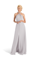 Sliver Joanna August Long Bridesmaid Dress Bella
