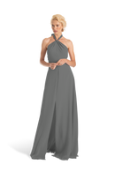 Grey Joanna August Long Bridesmaid Dress Bella