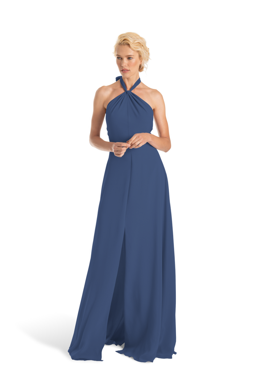 Navy Blue Joanna August Long Bridesmaid Dress Bella
