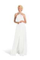 White Joanna August Long Bridesmaid Dress Bella