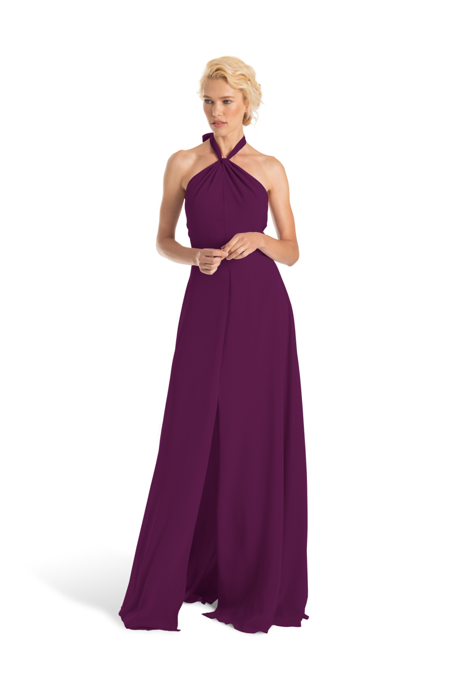 Purple Joanna August Long Bridesmaid Dress Bella