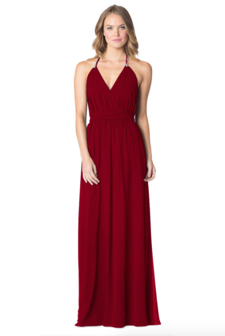 Berry-Bari Jay Bridesmaid Dress - 1600