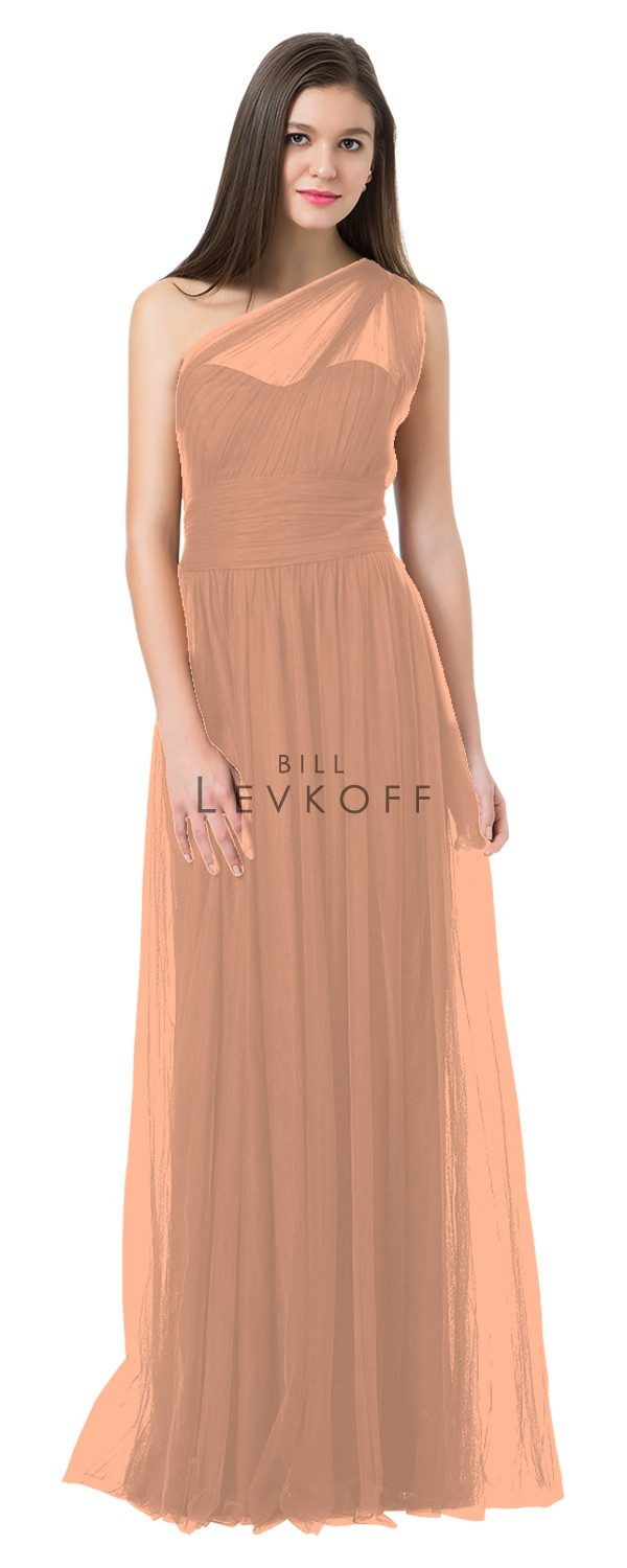 BillLevkoffBridesmaidDressStyle1228-Peach