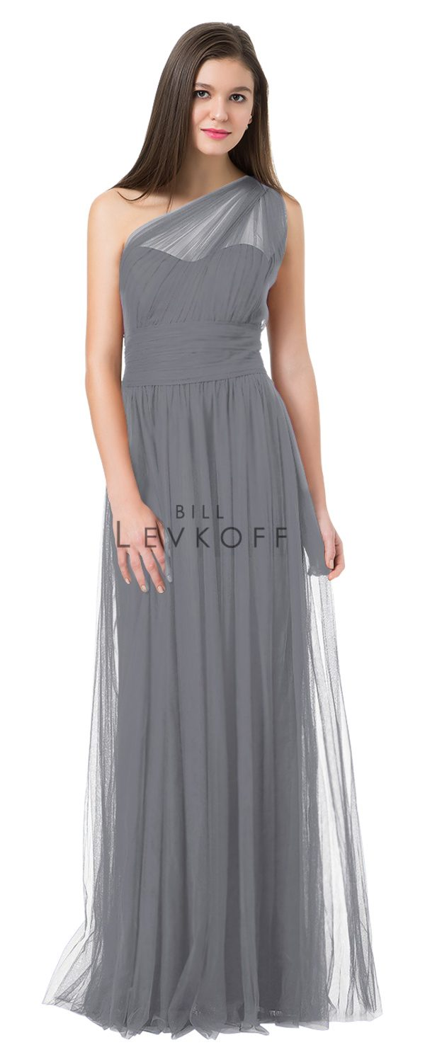 BillLevkoffBridesmaidDressStyle1228-Pewter
