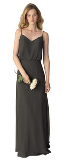 BillLevkoffBridesmaidDressStyle1266-Charcoal