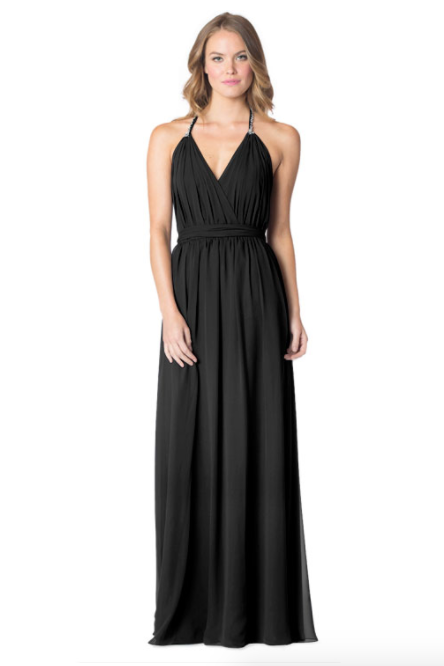 Black-Bari Jay Bridesmaid Dress - 1600