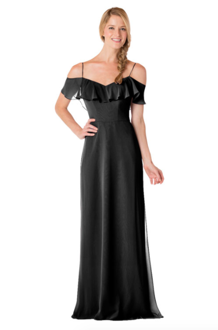 Bari Jay Bridesmaid Dress - 1730-Black