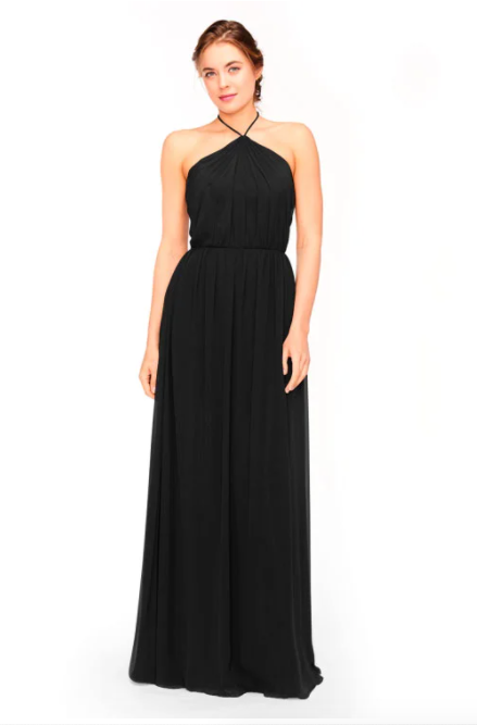 Bari Jay Bridesmaid Dress 1969 - Black