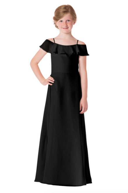 Bari Jay Junior Bridesmaid Dress - 1730(JR)-Black