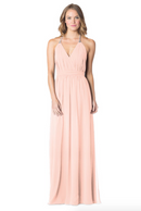 Blush-Bari Jay Bridesmaid Dress - 1600