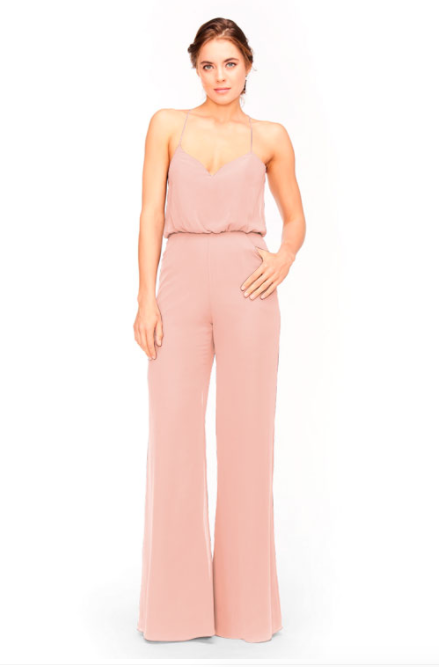 Bari Jay Jumpsuit Bridesmaid Dress 1964 - Blush