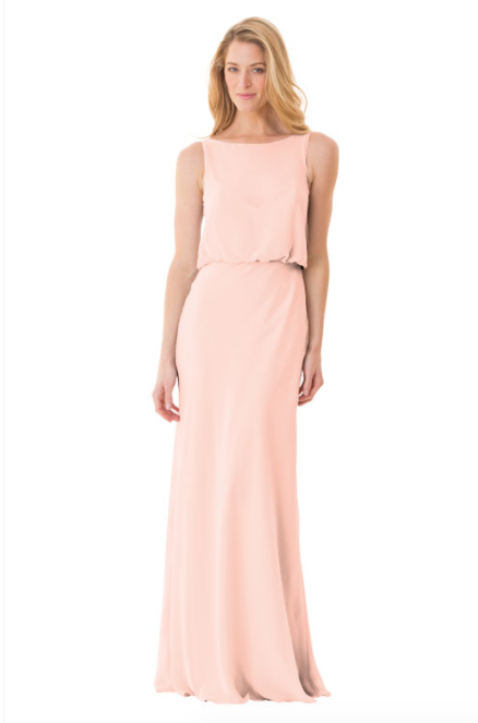 Bari Jay Bridesmaid Dress - 1661-Blush