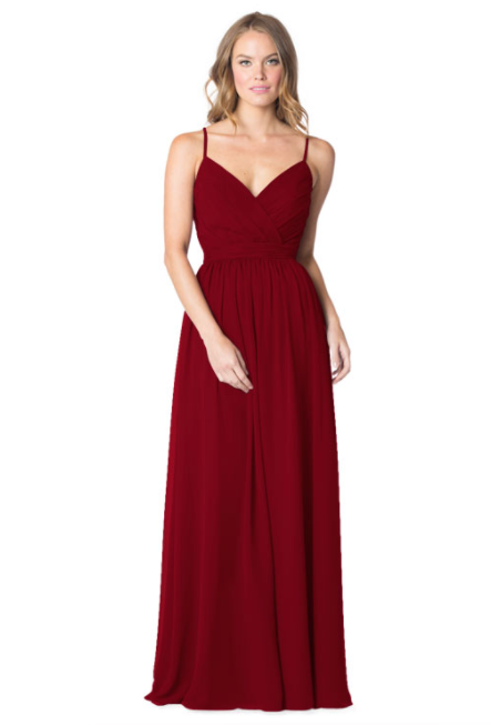 Bari Jay Bridesmaid Dress - 1606 IC-Bordeaux