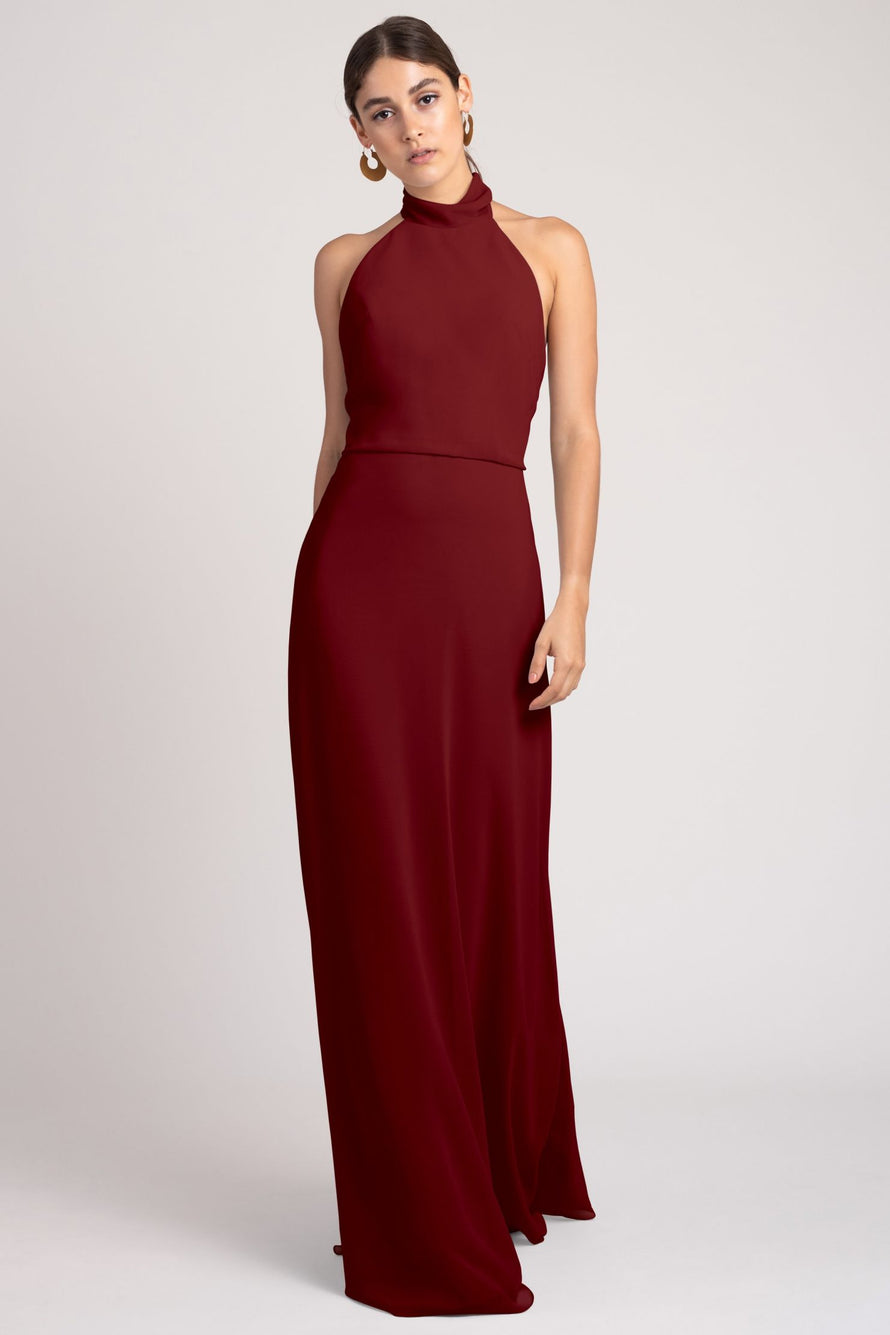 Jenny Yoo Bridesmaid Dress Brett_merlot