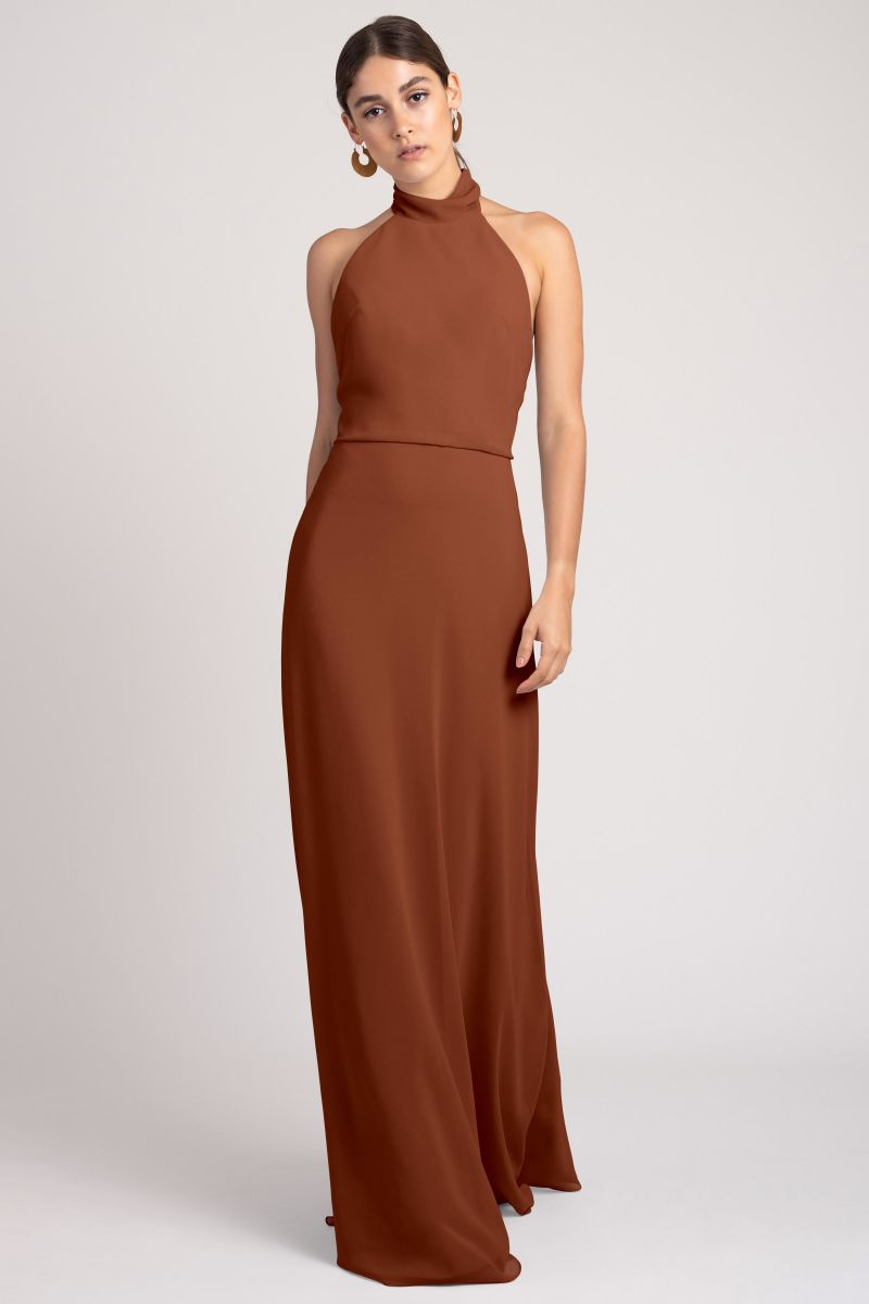 Terracotta-Jenny Yoo Bridesmaid Dress Brett