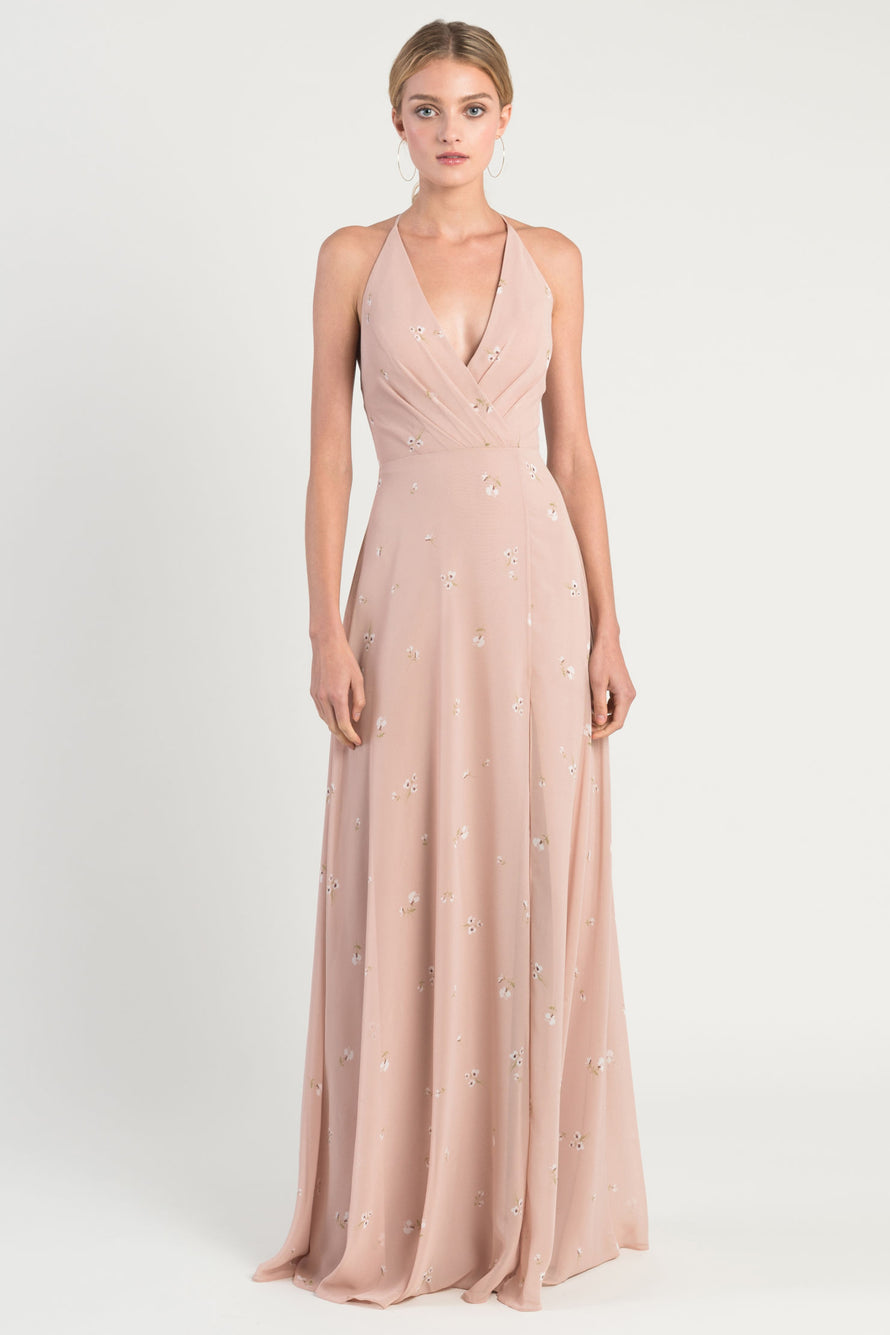 Jenny Yoo Long Bridesmaid Dress Bryce Print