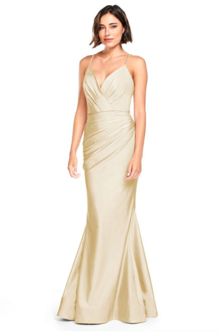 Bari Jay Bridesmaid Dress 2000 -Champagne