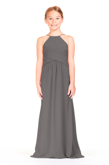 Bari Jay IC Junior Bridesmaid Dress - 1806 IC (JR)-Charcoal