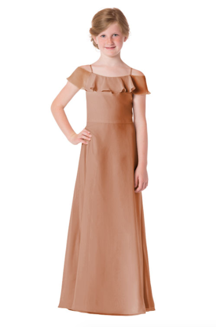 Bari Jay Junior Bridesmaid Dress - 1730(JR)-Cocoa