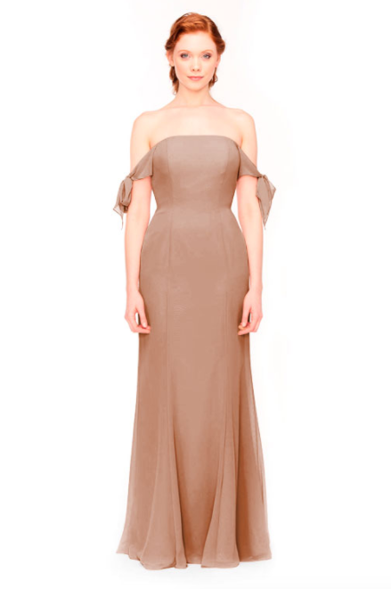 Bari Jay Bridesmaid Dress 1974 - Cocoa