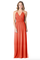 Coral-Bari Jay Bridesmaid Dress - 1600