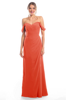 Bari Jay Bridesmaid Dress 2080 - Coral