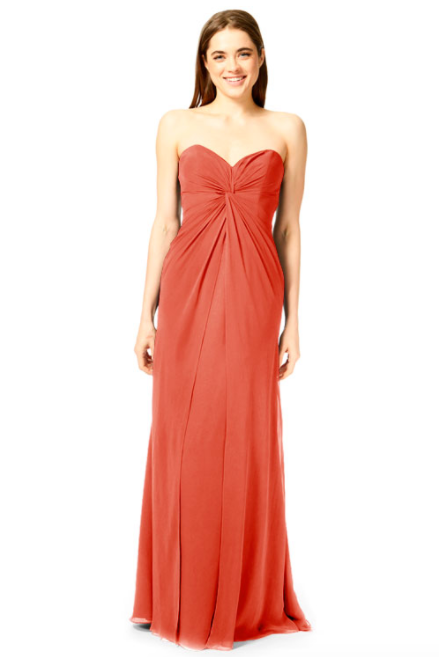 Bari Jay Bridesmaid Dress 1870 -Coral_