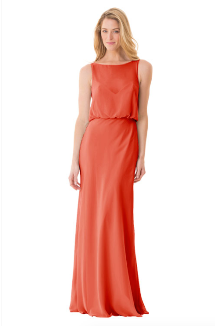 Bari Jay Bridesmaid Dress - 1661-Coral