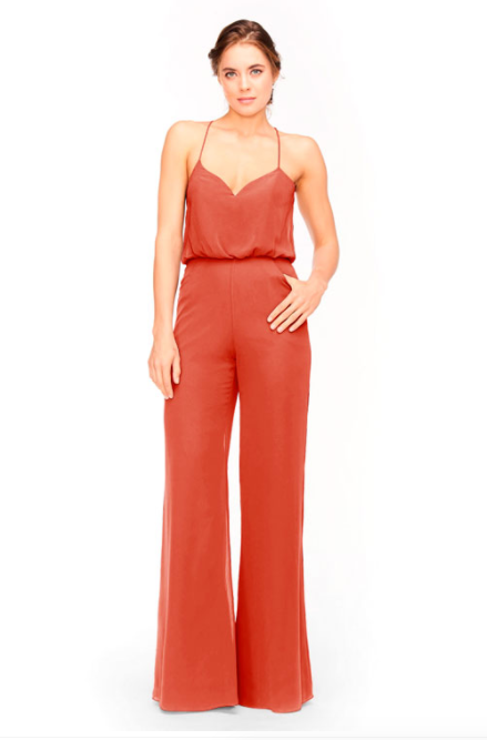 Bari Jay Jumpsuit Bridesmaid Dress 1964 - Coral