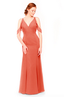 Bari Jay Bridesmaid Dress 1972 - Coral