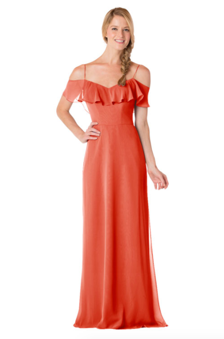 Bari Jay Bridesmaid Dress - 1730-Coral