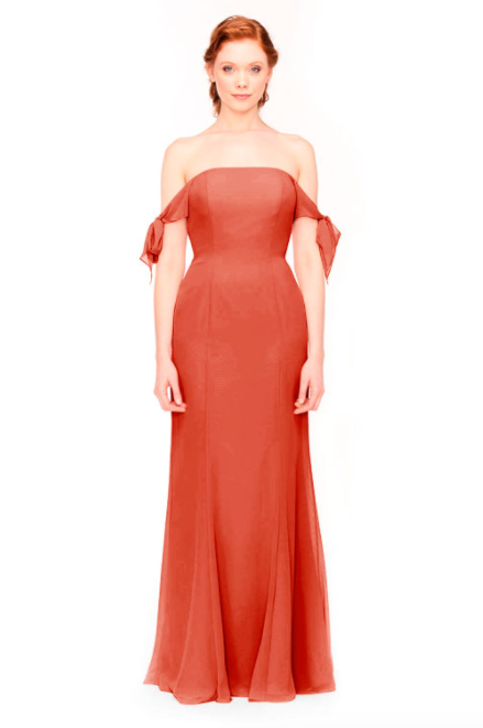 Bari Jay Bridesmaid Dress 1974 - Coral