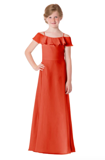 Bari Jay Junior Bridesmaid Dress - 1730(JR)-Coral_