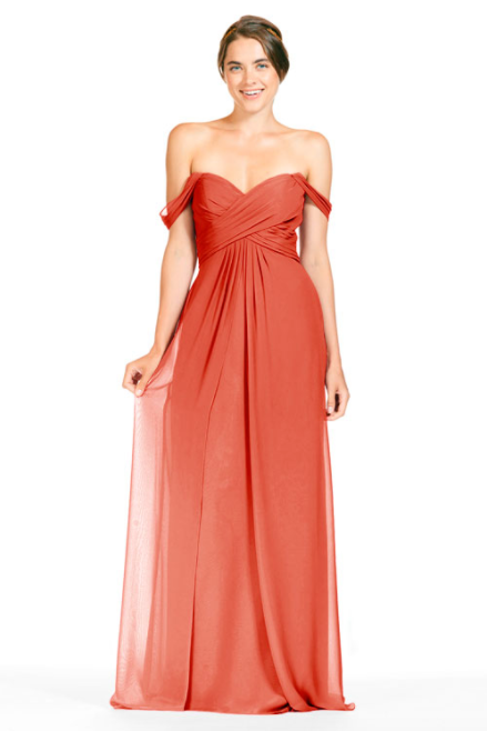 Bari Jay Bridesmaid Dress 1803 - Coral