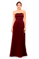 Bari Jay Bridesmaid Dress 1975 - Cranberry