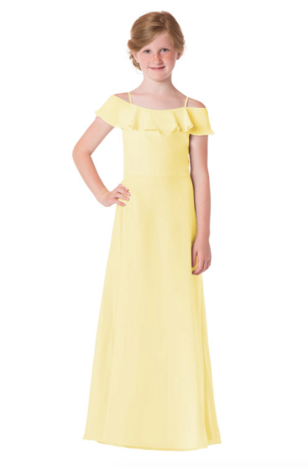 Bari Jay Junior Bridesmaid Dress - 1730(JR)-Daffodil_