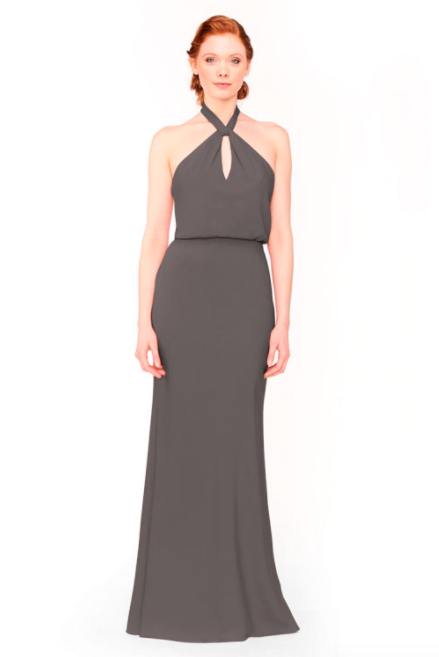 Bari Jay Bridesmaid Dress 1954 - DarkGrey