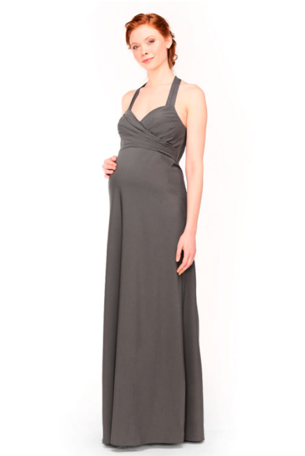 Bari Jay Maternity Bridesmaid Dress 1958 -DarkGrey