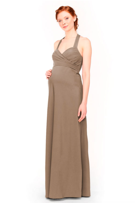 Bari Jay Maternity Bridesmaid Dress 1958 -DeepMocha