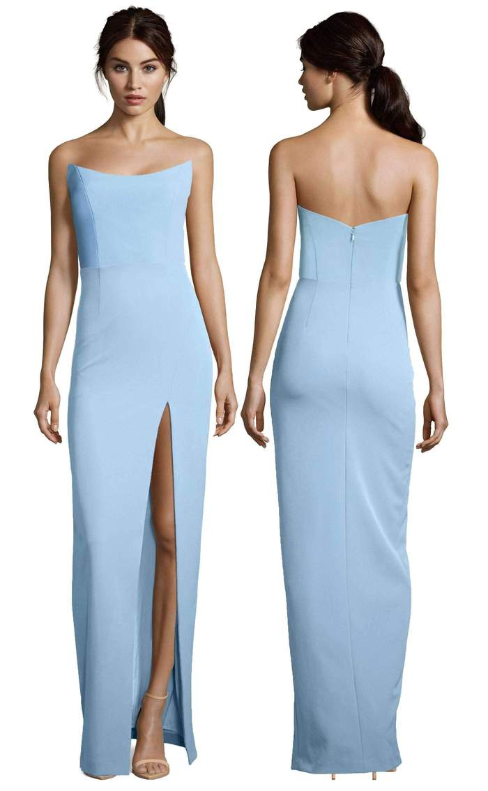 Altress Victoria Strapless with Slit Long Bridesmaid Dress