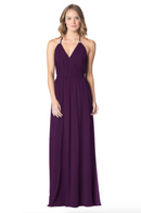 Eggplant-Bari Jay Bridesmaid Dress - 1600