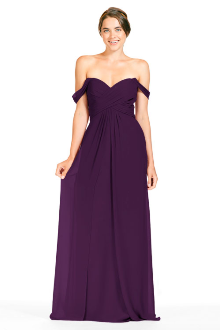 Bari Jay Bridesmaid Dress 1803 - Eggplant