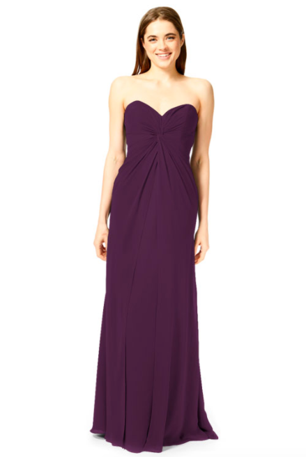Bari Jay Bridesmaid Dress 1870 -Eggplant