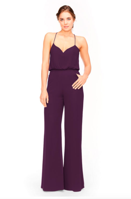Bari Jay Jumpsuit Bridesmaid Dress 1964 - Eggplant