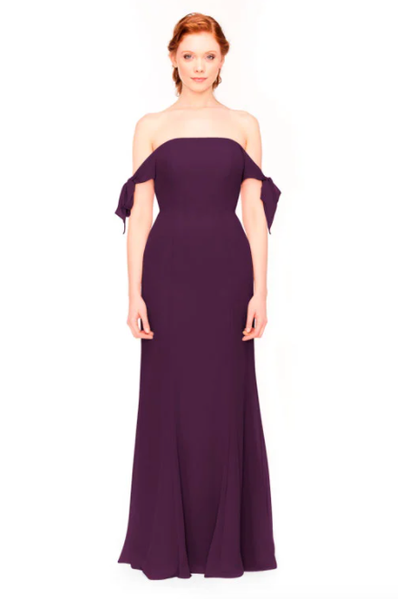 Bari Jay Bridesmaid Dress 1974 - Eggplant