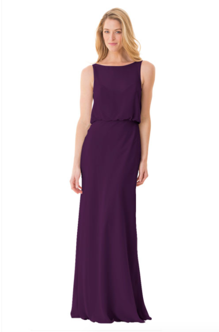 Bari Jay Bridesmaid Dress - 1661-Eggplant