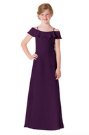 Bari Jay Junior Bridesmaid Dress - 1730(JR)-Eggplant