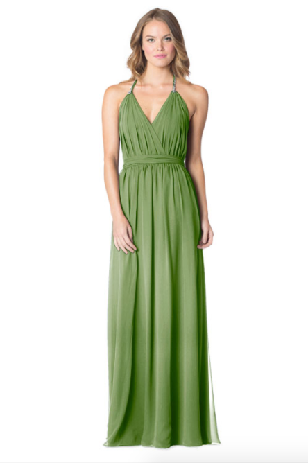Forest-Bari Jay Bridesmaid Dress - 1600